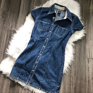 Vintage Gap Denim Snap Front Dress
